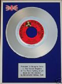 CHELSEA FOOTBALL TEAM - 7inch Platinum Disc - BLUE IS THE COLOUR